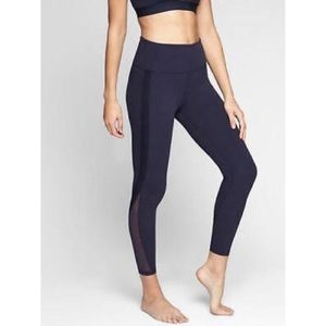 Athleta Navy 7/8 Side Stripe Workout Legging SP